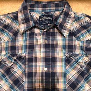 Aeropostale Lg. Slim Fit Burton-Up LS Shirt